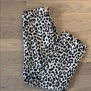 NWT J. Crew Linen Leopard Print Pants